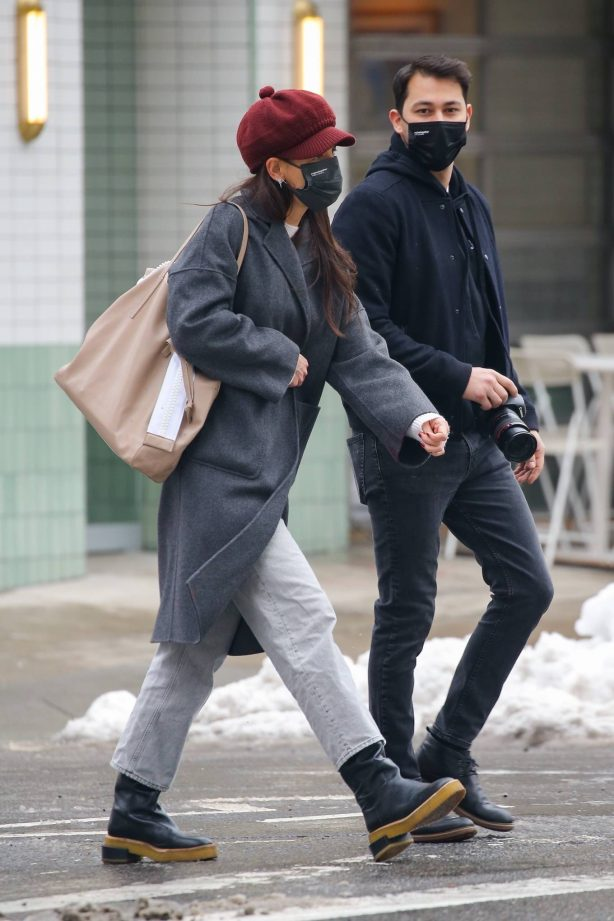 Katie Holmes - Out in Soho with a camera in New York