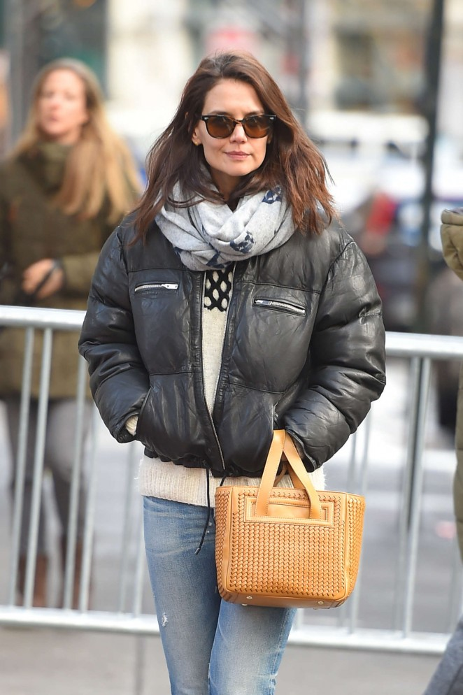 Katie Holmes in Jeans out in Tribeca