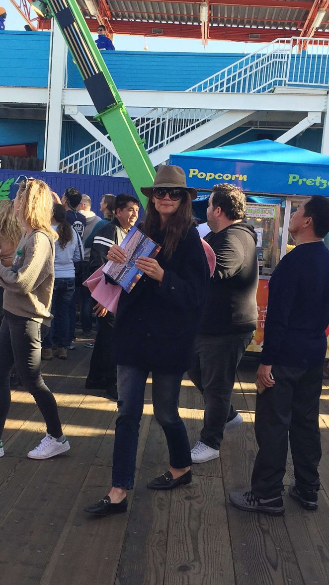Katie Holmes out on Santa Monica Pier in Los Angeles