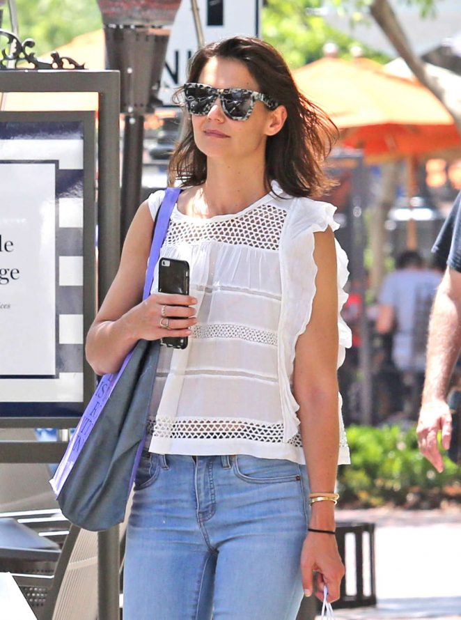 Katie Holmes - Out shopping in Los Angeles