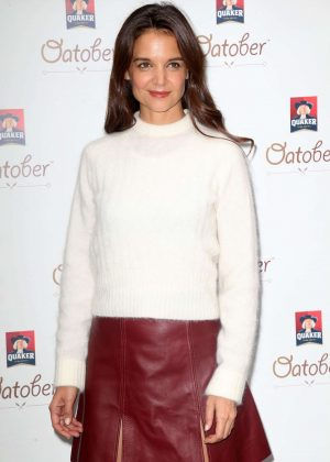 Katie Holmes - Quaker Oats 'Oatober' Launch in New York City