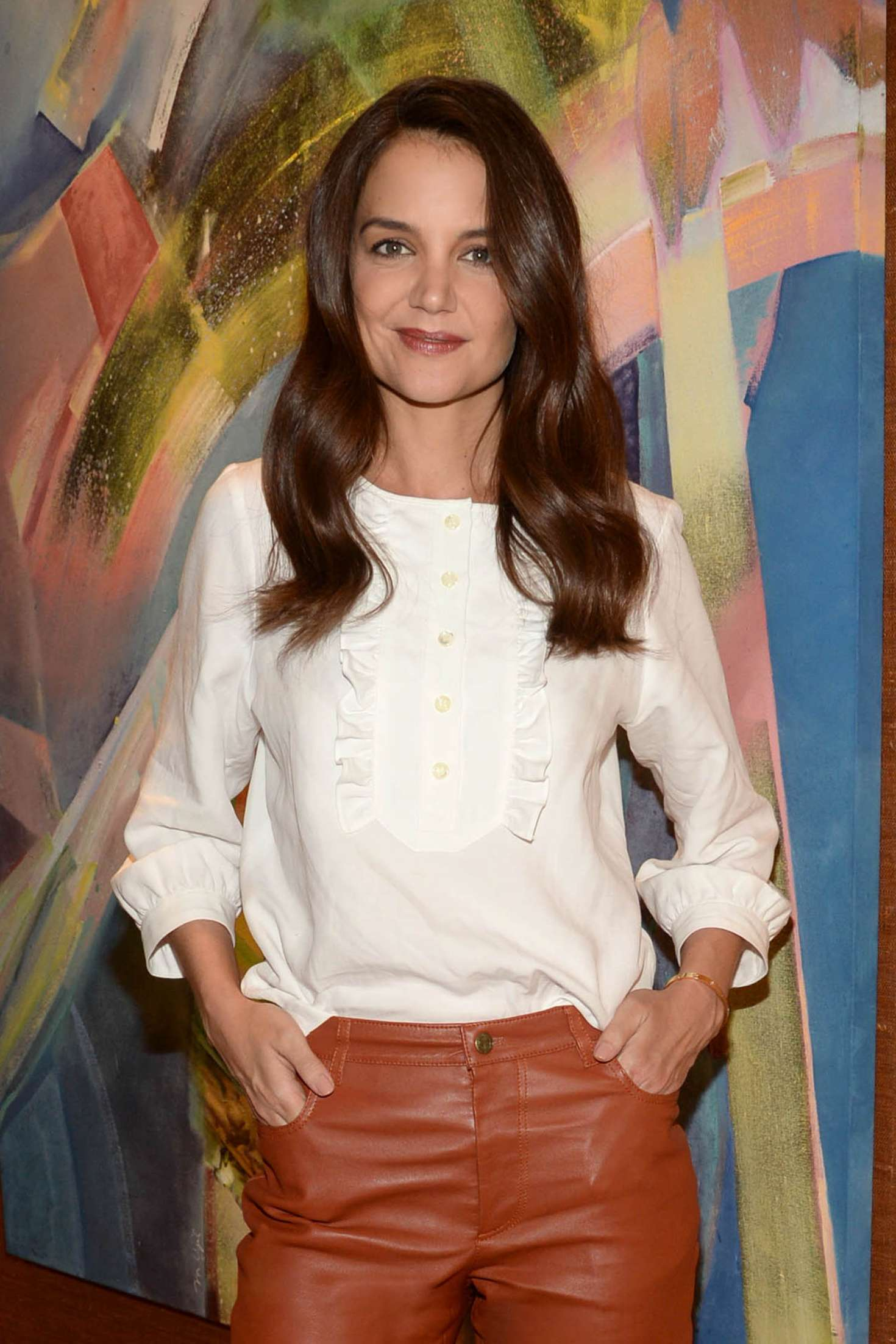 Katie Holmes - Satellite Media Tour to promote 'The Kennedys - After Camelot' in NY