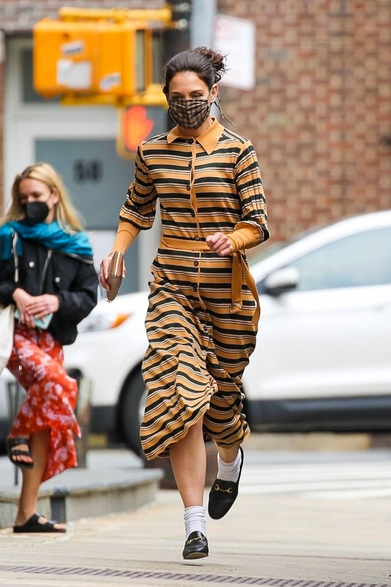 Katie Holmes 2021 : Katie Holmes – Seen while running in Tribeca – New York-08
