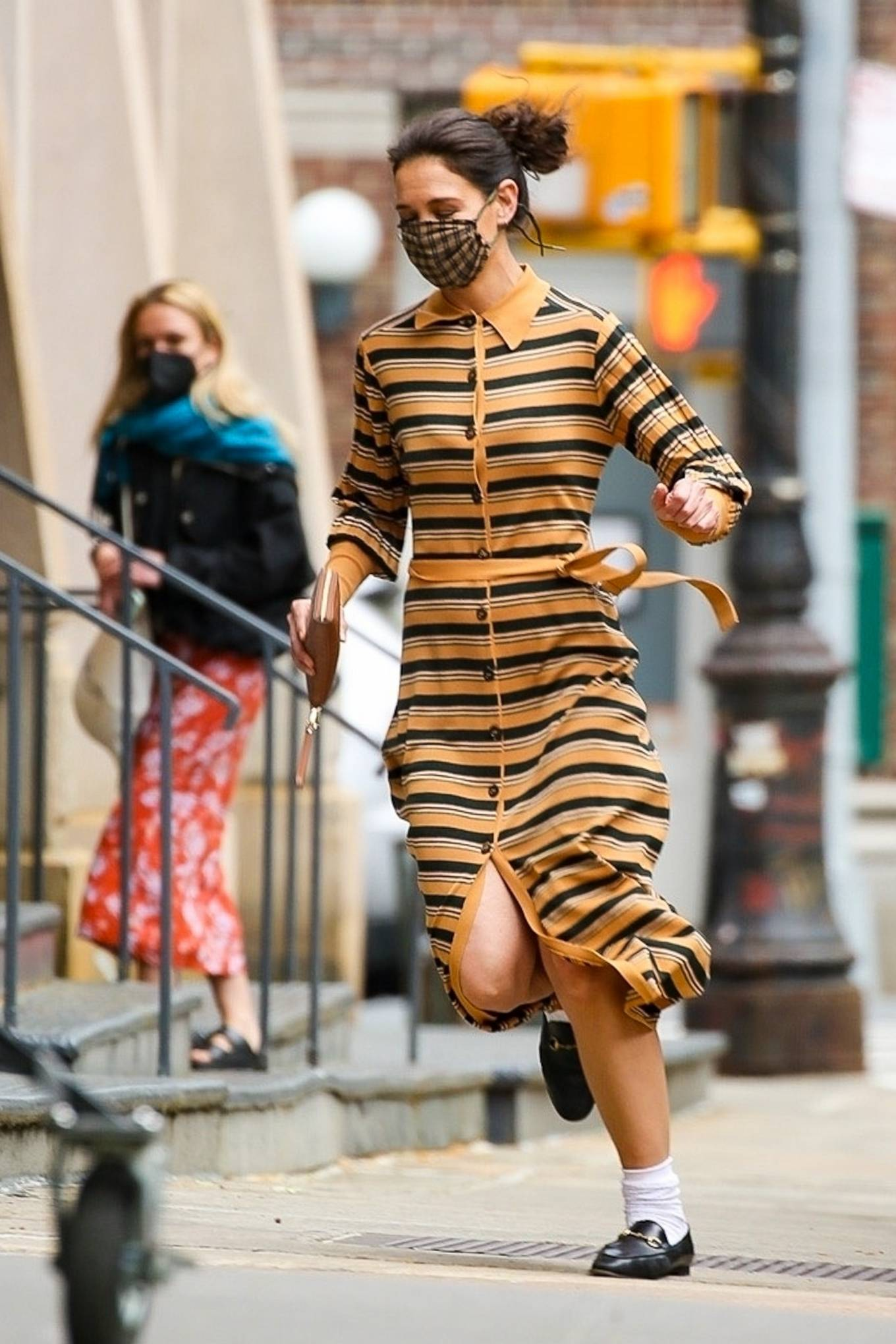 Katie Holmes 2021 : Katie Holmes – Seen while running in Tribeca – New York-10