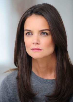 Katie Holmes - Shooting her new Alterna Haircare Ad ...