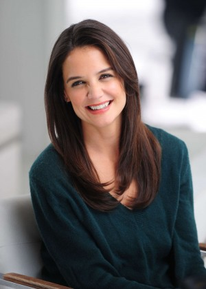 Katie Holmes - Shooting her new Alterna Haircare Ad Campaign in LA