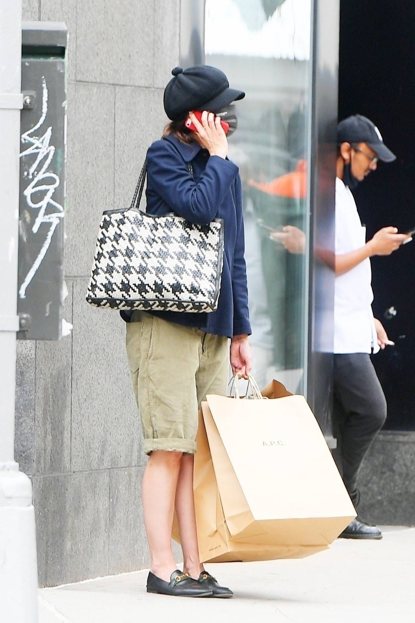 Katie Holmes - Shopping at A. P. C. in SoHo