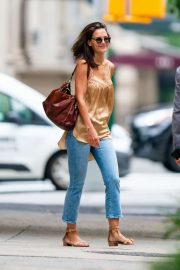 Katie Holmes - Spotted in jeans as she stepped out in New York