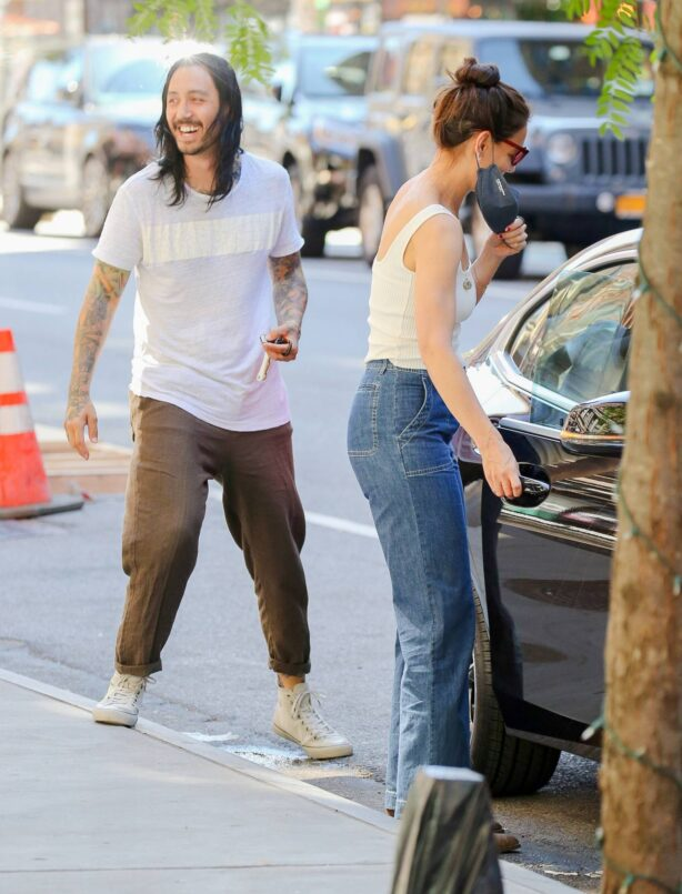 Katie Holmes - with a mystery man in New York City