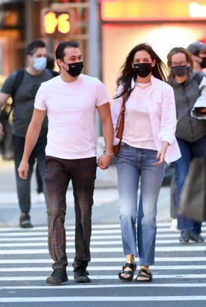 Katie Holmes - With boyfriend Emilio Vitolo leaving Dekor NYC Furniture Store