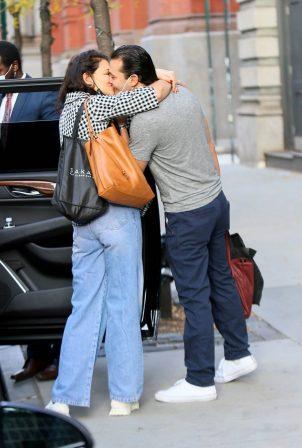 Katie Holmes - With her boyfriend Emilio Vitolo Jr. in New York