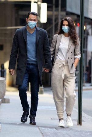 Katie Holmes - With her boyfriend out in New York
