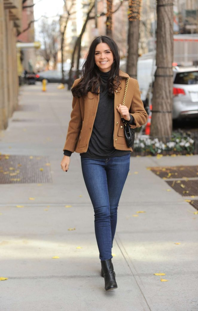 Katie Lee - Leaving NBC Studios in New York