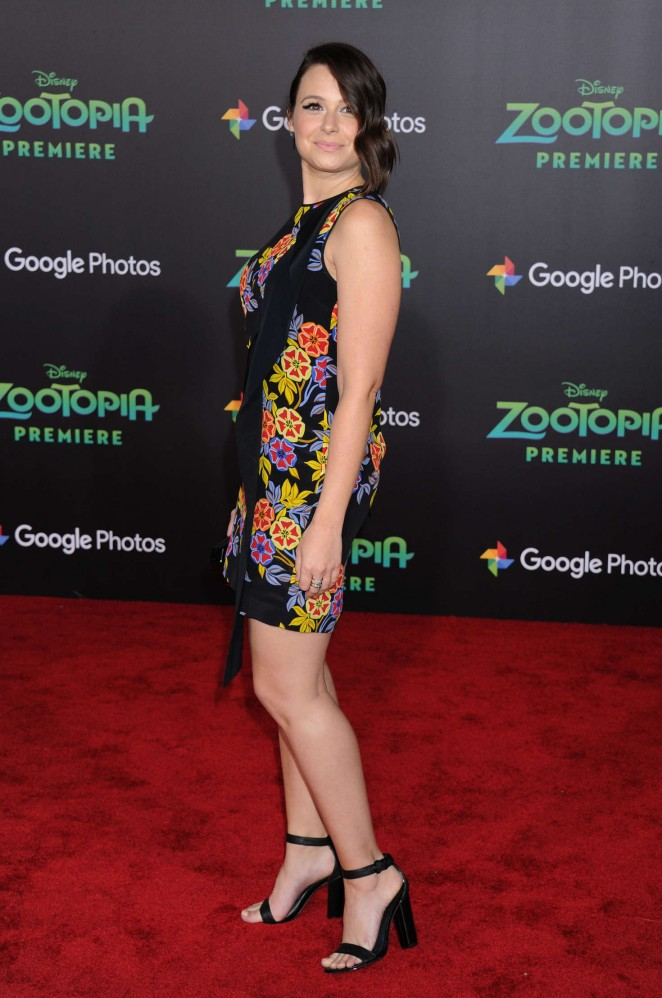 Katie Lowes: Zootopia Premiere -06