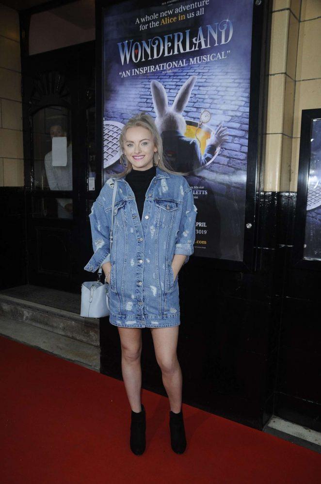 Katie McGlynn Arriving to watch Wonderland in Manchester