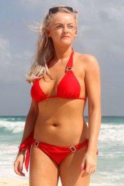 Katie McGlynn in Bikini on the beach in Mexico