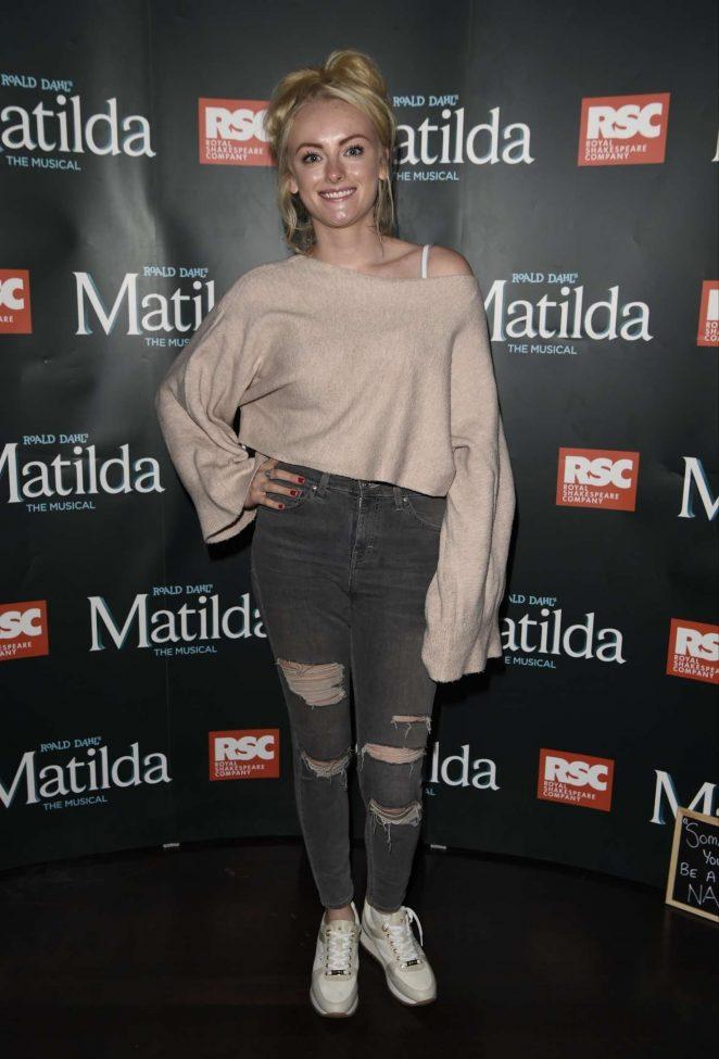 Katie McGlynn - Press night for Matilda in Manchester