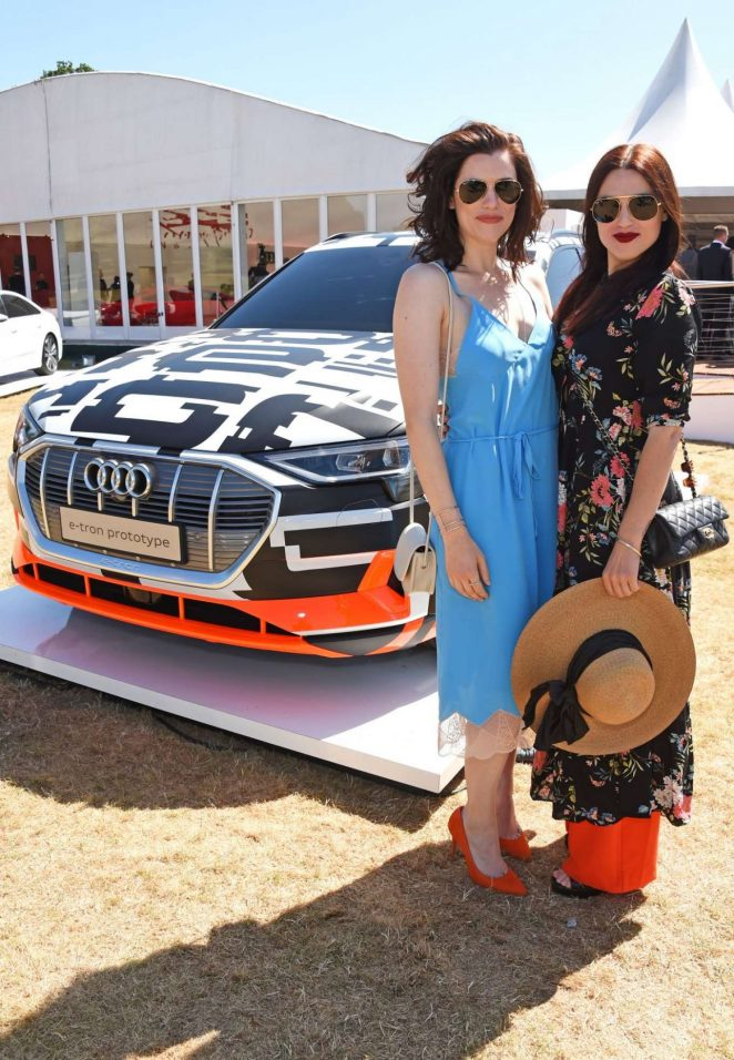 Katie McGrath Audi Polo Challenge In Berkshire GotCeleb - Mcgrath audi