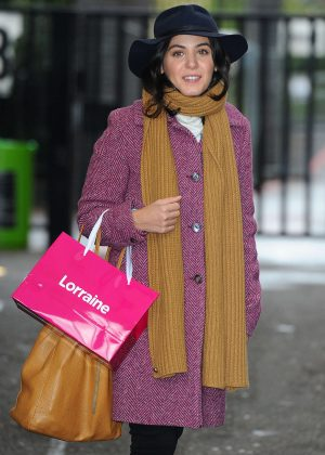 Katie Melua at ITV Lorraine studios in London