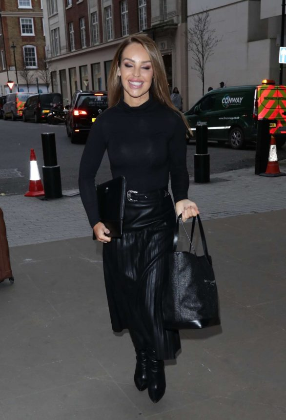Katie Piper - Arriving at BBC Studio in London