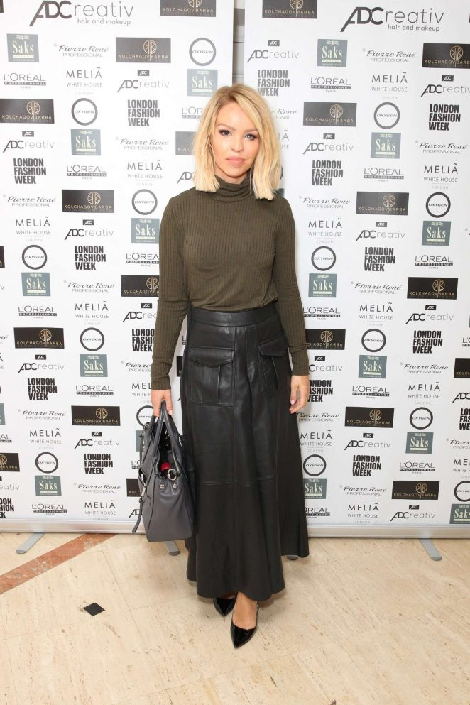 Katie Piper - Ashley Williams Show SS 2017 at London Fashion Week