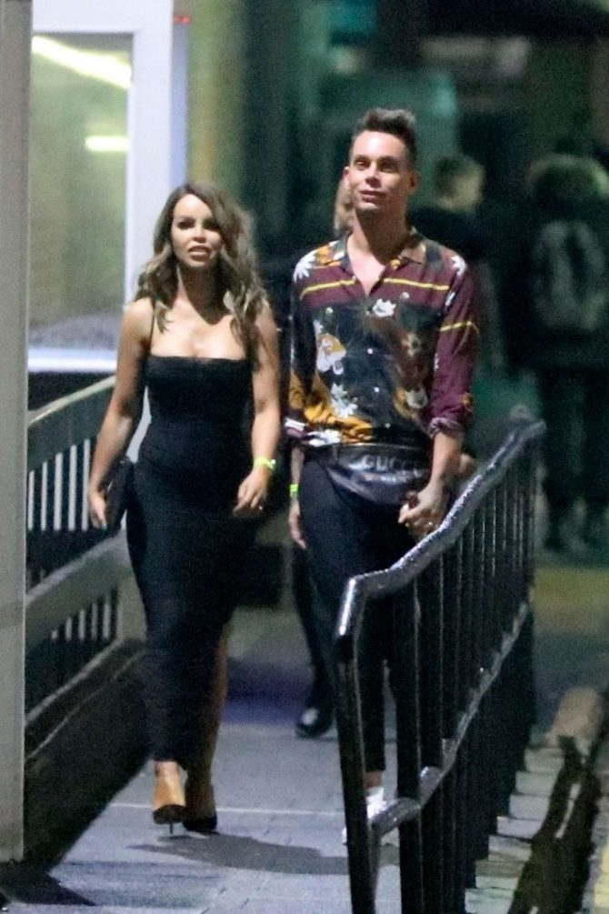 Katie Piper - Leaving the Strictly Come Dancing final in London