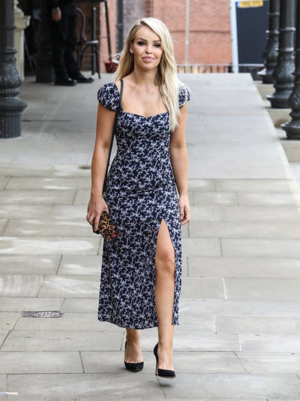 Katie Piper - Wearing a Summer Dress in London