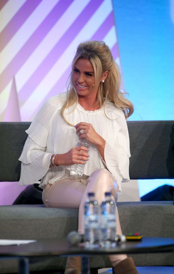 Katie Price - Addresses delegates at the Festival of Marketing in London
