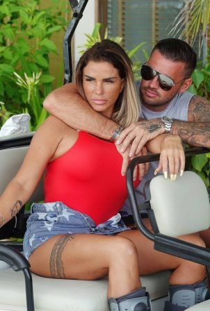 Katie Price and boyfriend Carl Woods on holiday in the Maldives