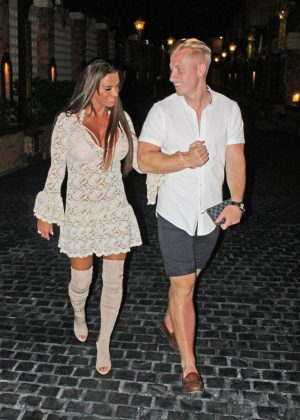 Katie Price and Kris Boyson - Night out in Thailand