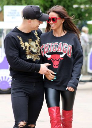 Katie Price and Kris Boyson out in London