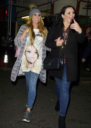 Katie Price and Martine McCutcheon Leaving Balans restaurant in London