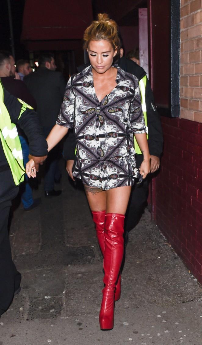 Katie Price at The Nightingale Club in Birmingham