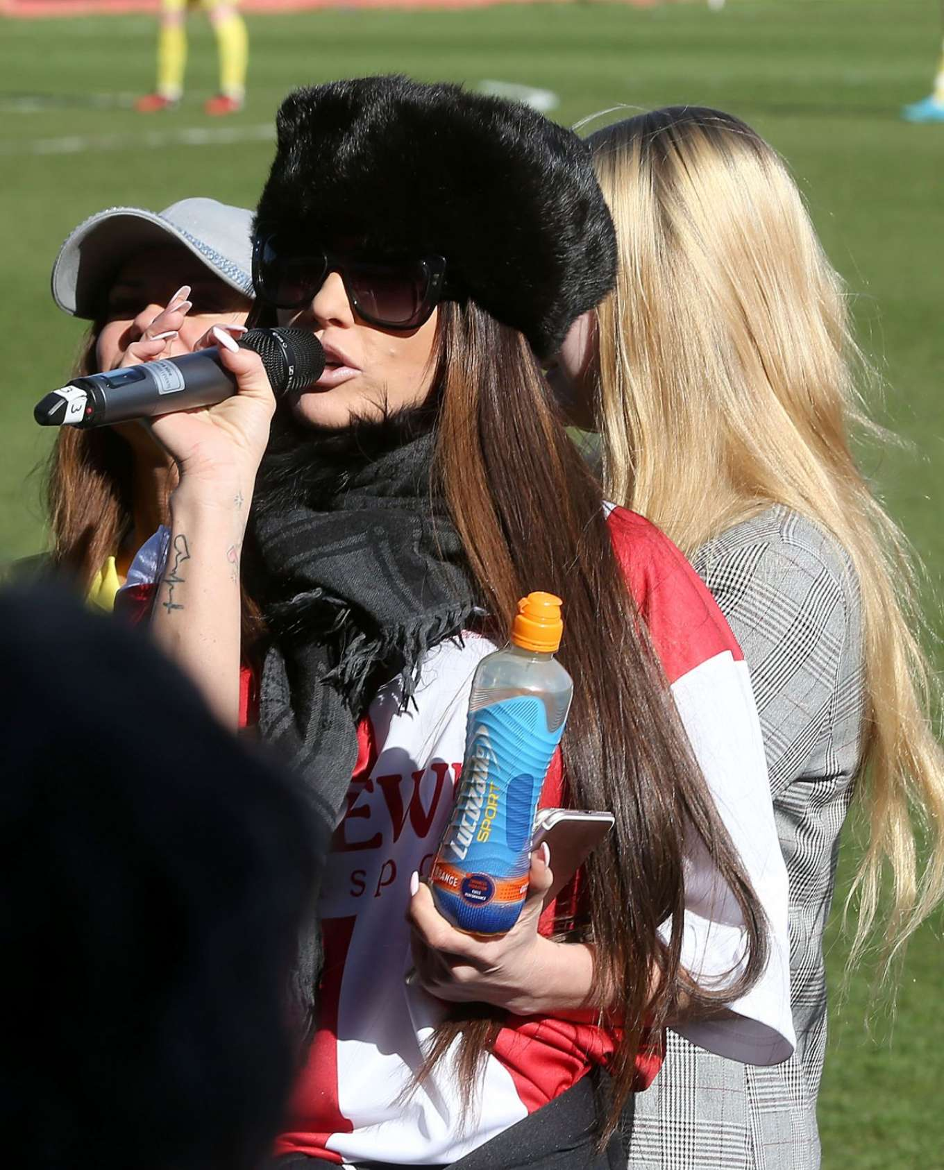 Katie Price - Celebrity Football Match at Cheltenham Town Football Club in London