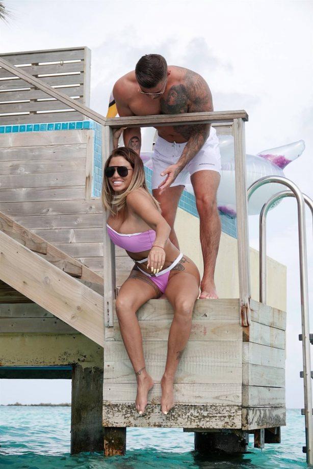 Katie Price - In a bikini in the Maldives