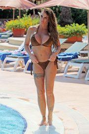 Katie Price in Brown Bikini in Istanbul