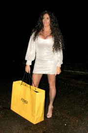 Katie Price in Mini Dress - Christmas Shopping in London