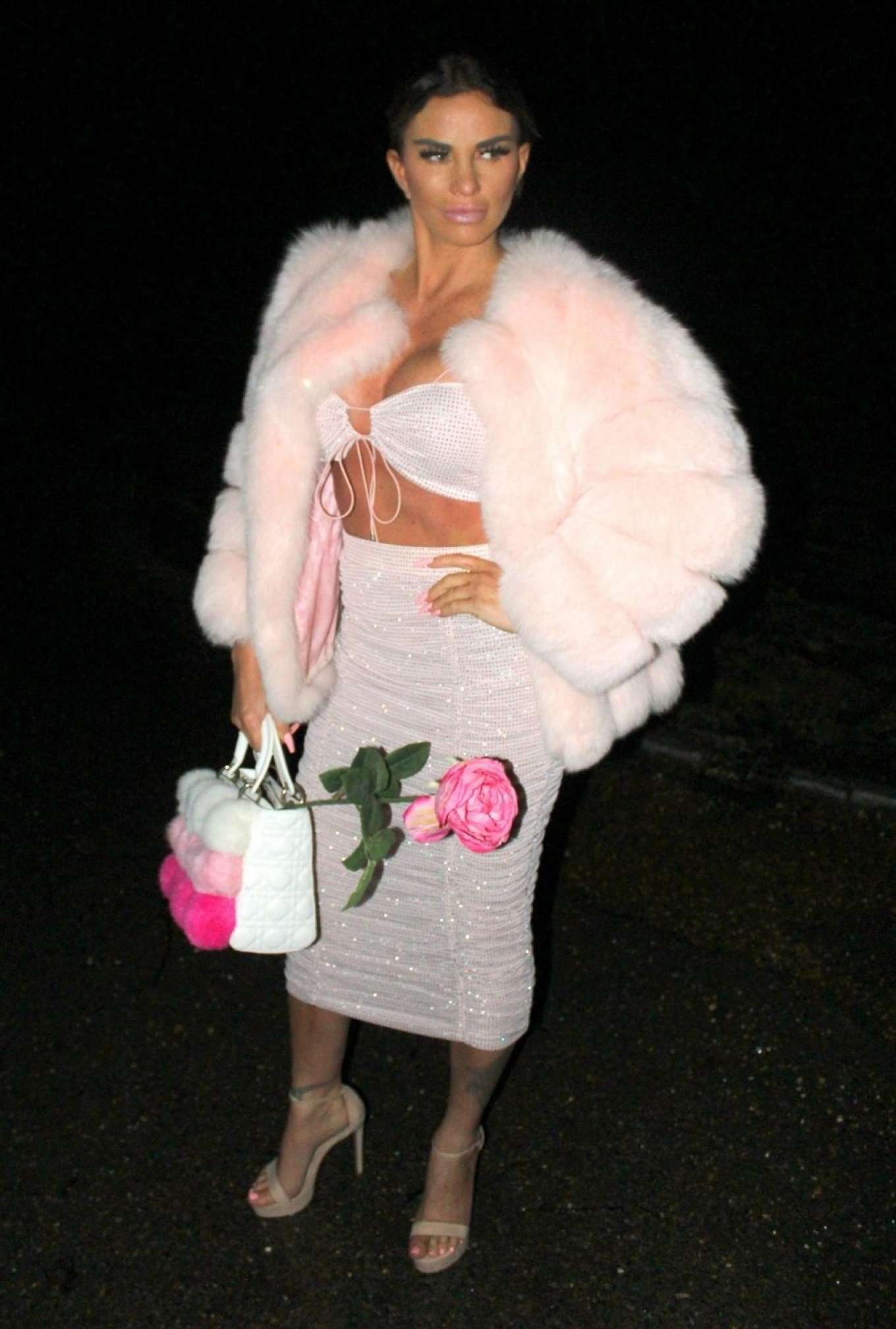 Katie Price In Pink Fur Coat Night Out In London Gotceleb