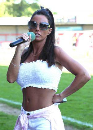 Katie Price - Just 4 Children Charity Football Match in West Sussex