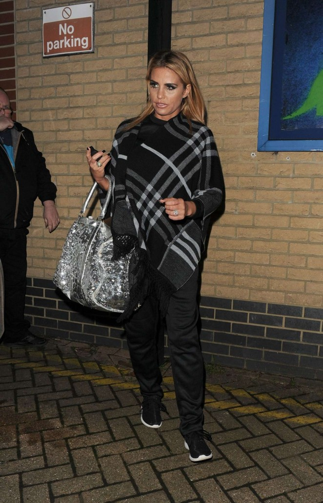 Katie Price - Leaves the New Victoria Theatre in London