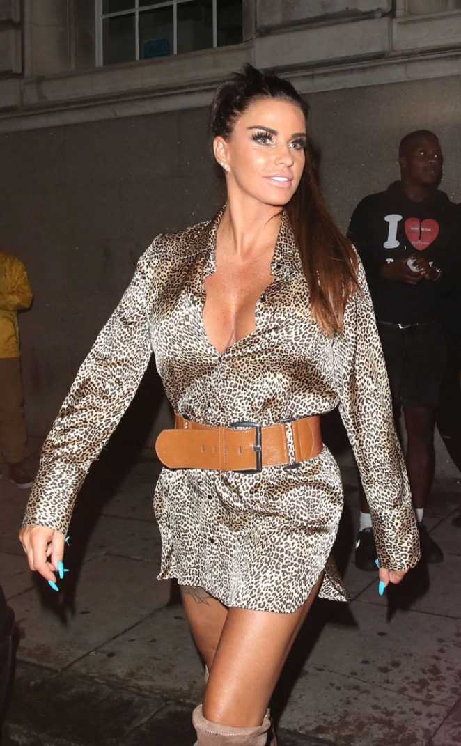 Katie Price - Leaving Acapulco Nightclub in Halifax