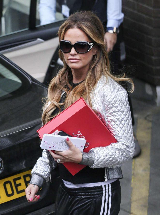 Katie Price - Leaving the ITV studios in London
