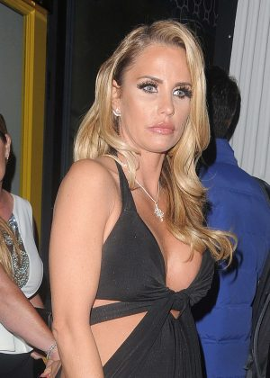 Katie Price night out at Groucho club in Soho