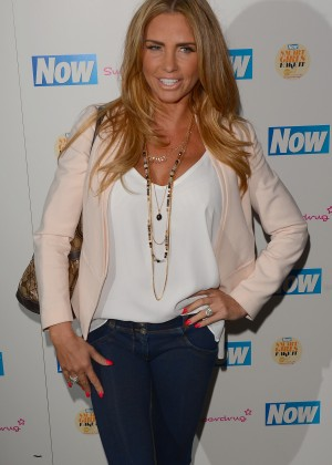 Katie Price - Now Smart Girls Fake It Campaign Launch in London