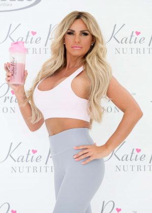 Katie Price - Nutrition together with NRGFUEL at The Worx in Parson's Green in London
