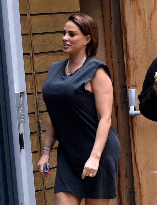 Katie Price - Pictured at Steph's Packed Lunch Studios in Leeds