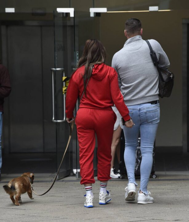 Katie Price - Seen leaving Steph's Packed Lunch TV Show in Leeds