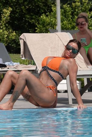 Katie Price - Shows her figure in bikini in Turkey
