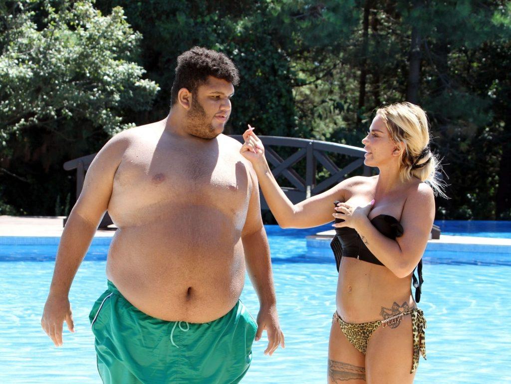 Katie Price 2019 : Katie Price – Wears leopard printed bikini by the poolside in Turkey-16