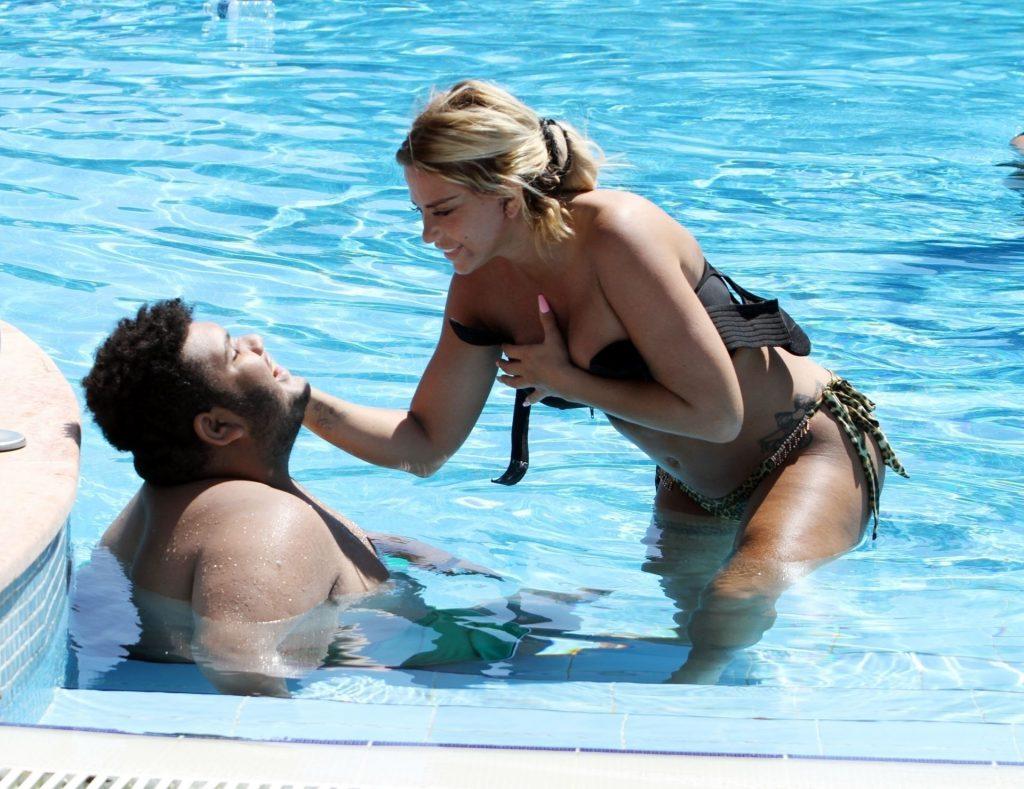 Katie Price 2019 : Katie Price – Wears leopard printed bikini by the poolside in Turkey-23